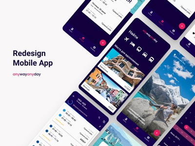 Anywayanyday - redesign concept mobile App app mobile app ux ui