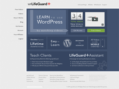 wpLifeGuard – WordPress Video Tutorials by Bold Perspective