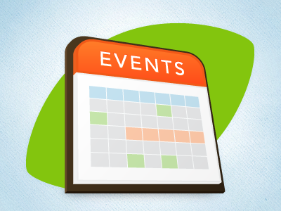 Events Calendar Icon by Bold Perspective on Dribbble