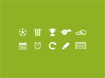 Soccer Icons icon icons pictographs simple soccer football freebie shoe ball goal app calendar