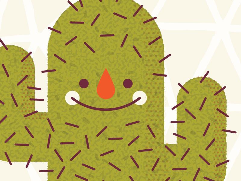 Hug Me  desert cacti cactus cute texture vector art kali meadows illustration