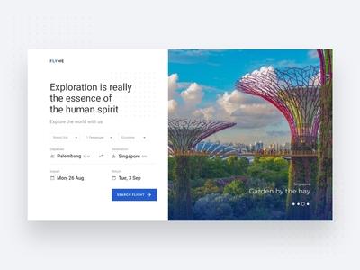 Flight ticket booking website UI exploration