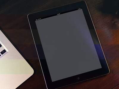 Free iPad 3 PSD Mockup Download