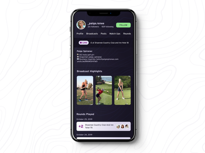 Bit Practice 1 profile live video dark twitch golf dailyui
