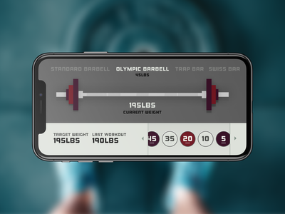 DailyUI Challenge #4 counting numbers calculator gym barbell weights workout dailyui004 dailyui