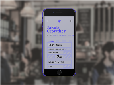 Daily UI Challenge #6 design ui mobile journal beer daily 100 challenge dailyui daily