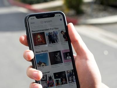 Qroom - Music for 99% ux app ui design