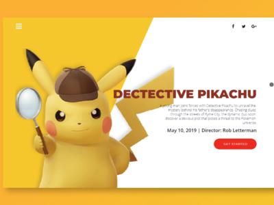 Detective Pikachu Landing Page