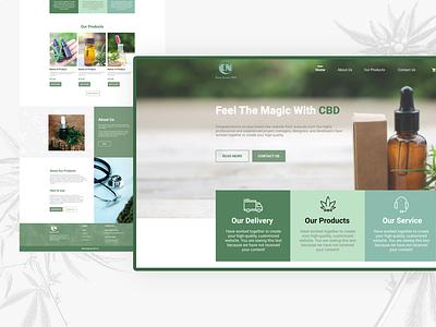 UI/UX design home page for Viva Green CBD design cannabis cbdoil uiux webdesign
