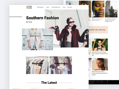Website design for fashion magazine magazine fashion uiux webdesign design