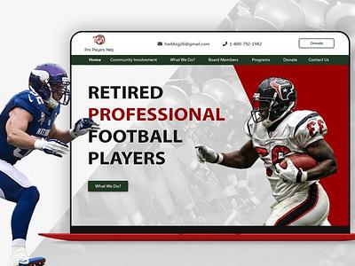 UI/UX design football nfl webdesign uiux design