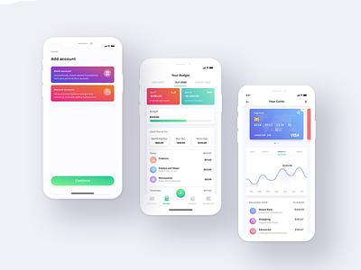 An app for control budget money budget wallet uiux app design
