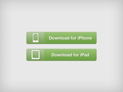 iOS Download buttons iphone ipad ios button download