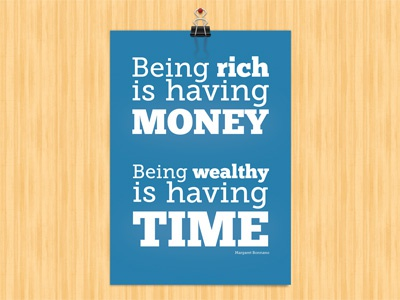 Being wealthy shop store poster
