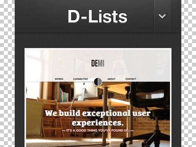 D-Lists mobile mobile blog gallery
