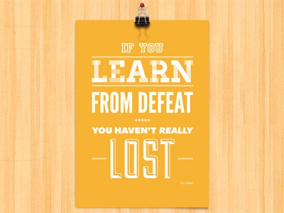 Learn from defeat shop store poster