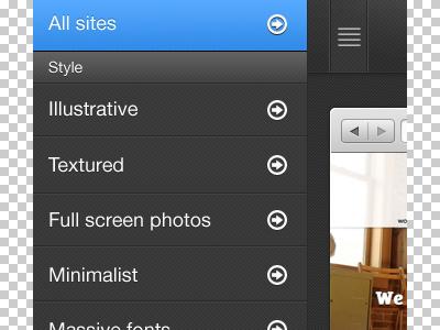 Mobile menu menu navigation mobile