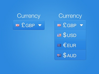Currency Converter drop-down menu currency converter