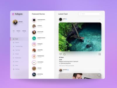 Instagram Website Redesign Concept