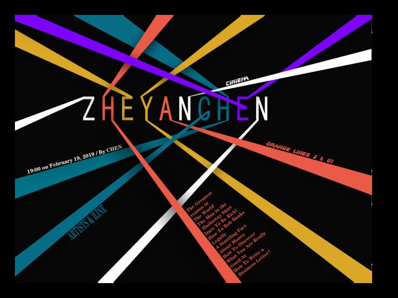 Colorful line poster ui typography illustration design