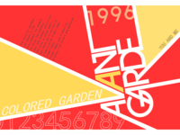 Colored garden poster
