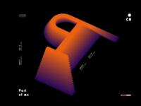 Web page two-color gradient