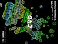 Wireframe Melting Ball Background Poster