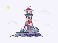 Stroke lighthouse illustration