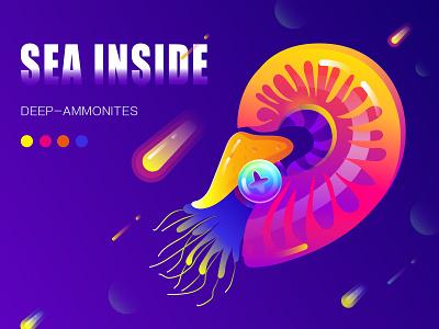 Nautilus illustration【鹦鹉螺】 ui 插图 typography illustration design