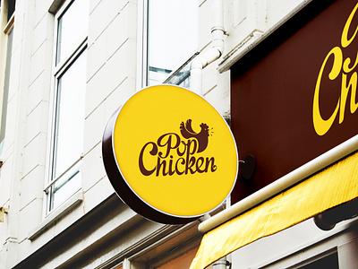 Pop chicken design graphic designing logo design logo branding