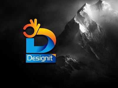 designit logo flat app icon typography social media photoshop illustration graphic designing logo design vector branding logo design