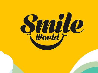 smile world logo illustration photoshop typography logo design graphic designing logo vector branding design