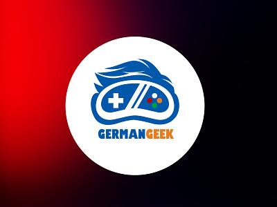 German Geek logo design pakistan pixel card art pixelpk logodesign illustrations icon animation social media typography photoshop illustration logo design graphic designing vector logo branding design