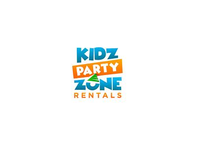 kids party logo pixel anas waqar syed anas pixelpk logo design illustration graphic designing logo design branding