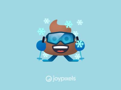 The JoyPixels Skier Poo - Winter Freeze Pack