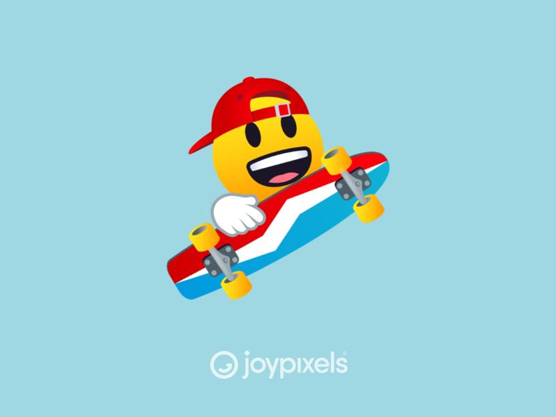 The JoyPixels Skateboarding Smiley Emoji - Sports Pack