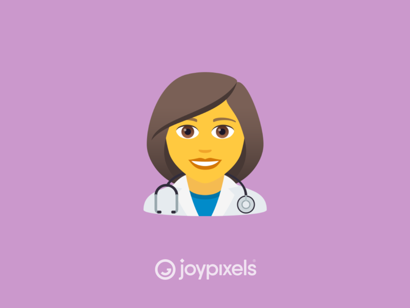 JoyPixels Woman Doctor Emoji - Version 5.5