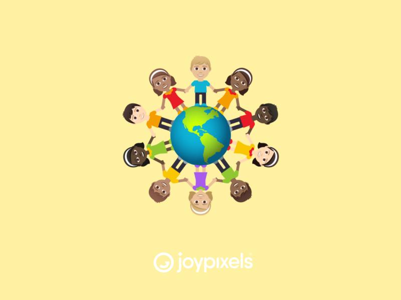 JoyPixels Child Earth Emoji Sticker fun graphic character illustration icon globe world earthday happy smile emojis kids emoji children earth earth day