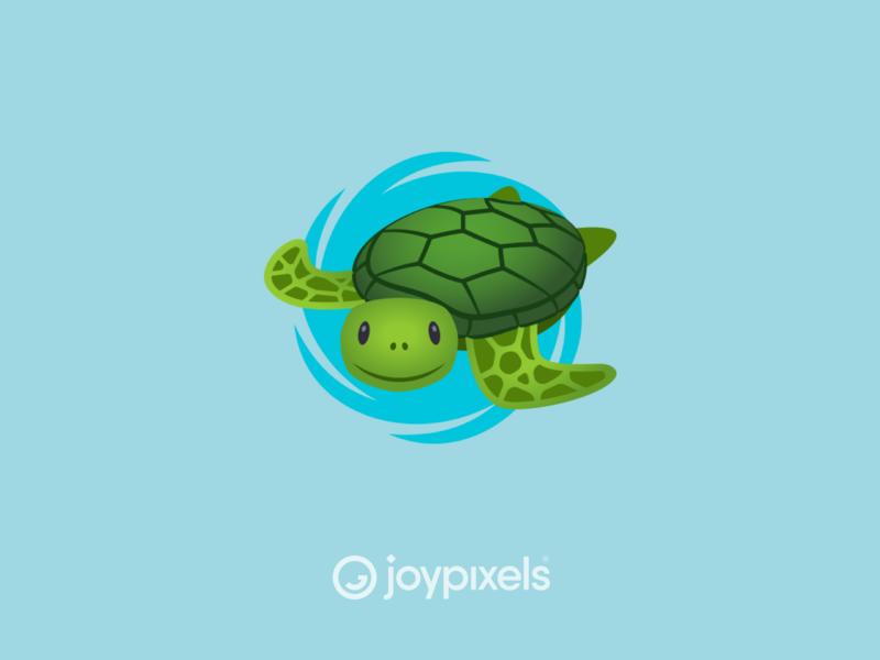 The JoyPixels Sea Turtle Emoji Sticker illustration characters character icon glyph graphic sea creatures sea creature sea turtles seaturtle sea animals sea life emojis emoji turtles cute animal search turtle sea turtle