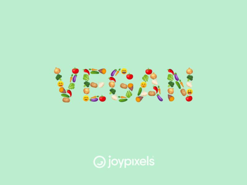 The JoyPixels Vegan Emoji Sticker - Vegan Pack veggies fruit vegetable vegetarian vegan logo vegan food veganism smiley face smiley vegan emojis illustration icon emoji