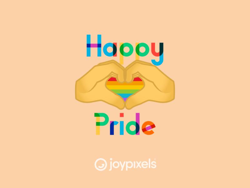 The JoyPixels Happy Pride Emoji Sticker - Pride Pack vector rainbow heart heart hands illustration glyph emojis rainbow pride rainbow lgbtq lgbt gay pride gay gaypride pridemonth pride happy pride icon emoji