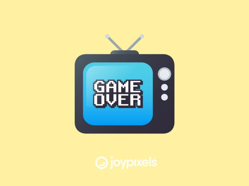 The JoyPixels Game Over Emoji Sticker - Gamer Pack game video video game art gamer logo gamerguy gamergirl gamers television tv video games video game videogames videogame gamer glyph graphic emojis illustration icon emoji