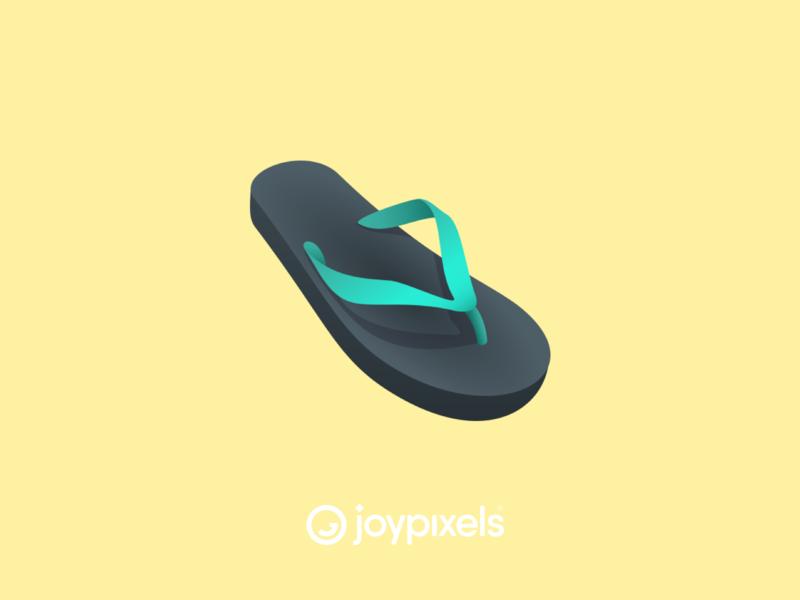 The JoyPixels Thong Emoji - Version 6.0 glyph vector beach shoes sandals shoe sandal flip flops flip flop flipflops flipflop thong emojis illustration icon emoji