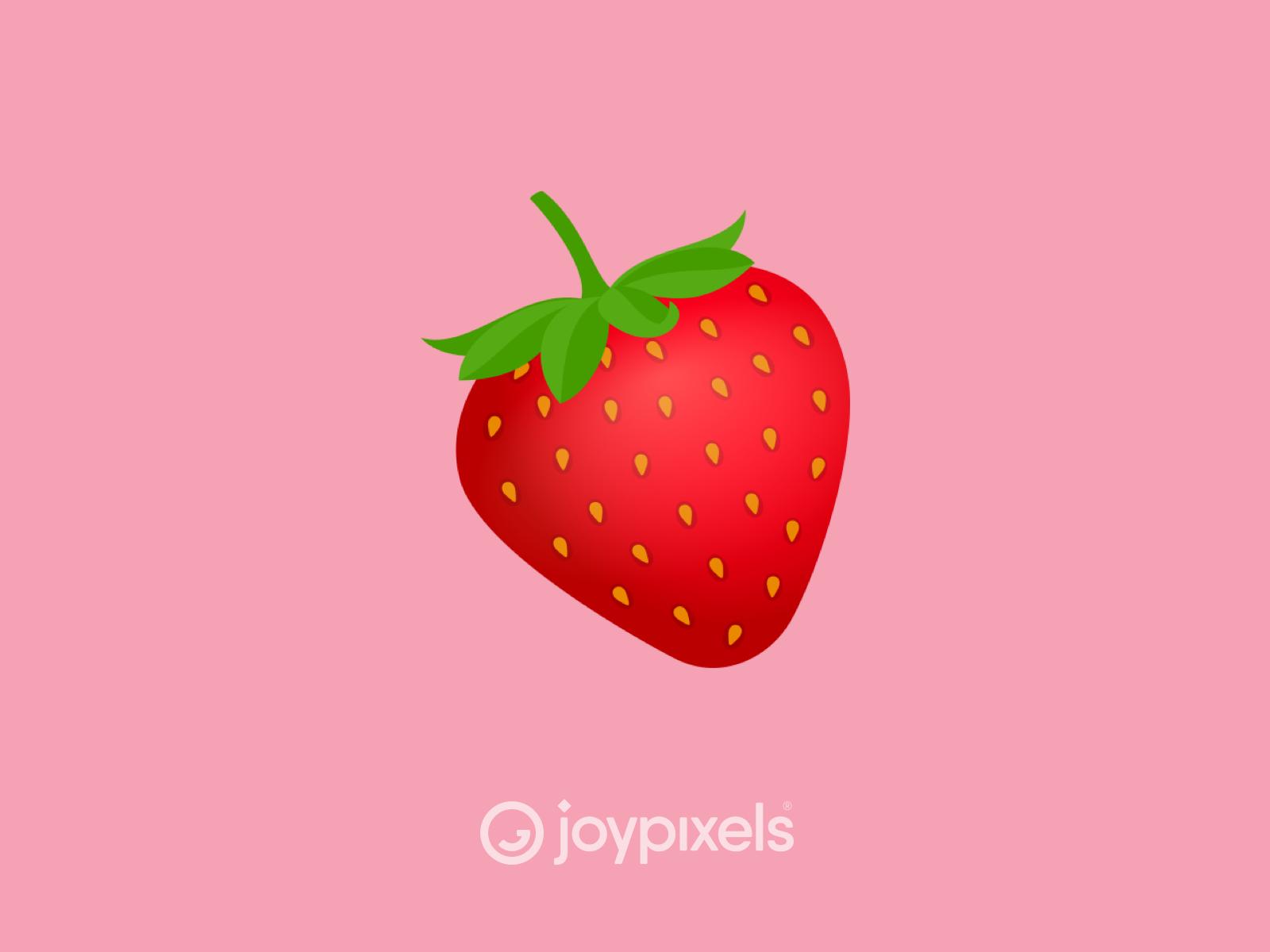 The Joypixels Strawberry Emoji Version 6 0 By Joypixels On Dribbble The strawberry emoji first appeared in 2010. the joypixels strawberry emoji