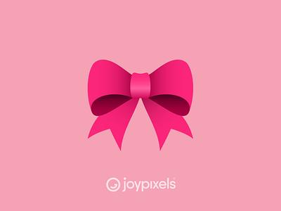 The JoyPixels Bow Emoji - Version 6.0 giving christmas gift present ribbon bow glyph graphic emojis illustration icon emoji