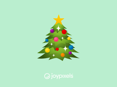 The JoyPixels Christmas Tree Emoji - Version 6.0 ornament holiday december christmas tree christmas glyph graphic emojis character illustration icon emoji