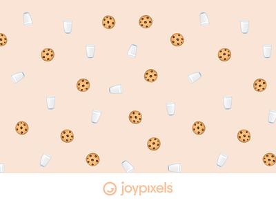 The JoyPixels Cookies & Milk Pattern - Patterns 1.0 tile background seamless milk christmas pattern cookies emojis illustration icon emoji