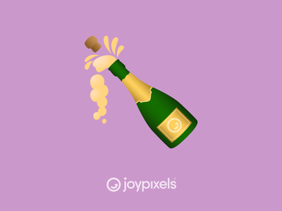The JoyPixels Bottle Popping Emoji - Version 6.0 christmas eve christmas new year drink bottle champagne party new years eve new years glyph graphic emojis character illustration icon emoji