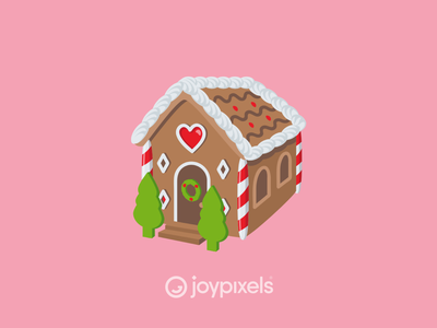 The JoyPixels Gingerbread House - Winter Joy Pack december holiday christmas gingerbread man gingerbread house gingerbread glyph graphic emojis illustration icon emoji