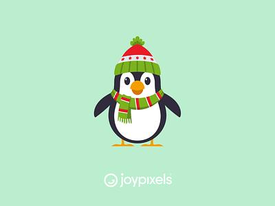 The JoyPixels Penguin Sticker - Winter Fun penguins scarf cute animal winter penguin glyph graphic emojis character illustration icon emoji
